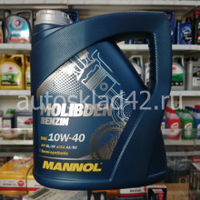 Масло моторное MANNOL Molibden Benzin 10W-40 API SL/CF 4л