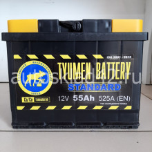 Аккумулятор ТЮМЕНЬ STANDART 55Ah 12V 525A п/п (242*175*190) Ca/Ca