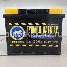 Аккумулятор ТЮМЕНЬ STANDART 55Ah 12V 525A о/п (242*175*190) Ca/Ca