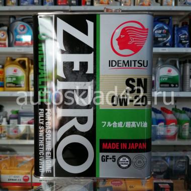 Масло моторное IDEMITSU Zepro Eco Medalist 0W-20 SN/GF-5 4л
