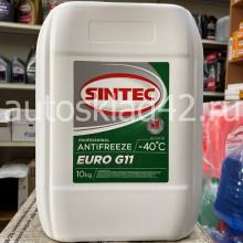 Антифриз SINTEC EURO G-11 -40 (зеленый) 10кг