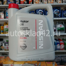 Масло моторное NISSAN 5W-40 A3/B4 5л