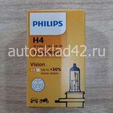 Автолампа PHILIPS H4 12V 60/55W P43T-38