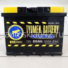Аккумулятор ТЮМЕНЬ STANDART 60Ah 12V 550A о/п (242*175*190) Ca/Ca
