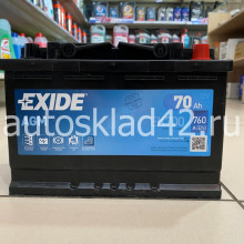 Аккумулятор EXIDE EK700 AGM 70Ah 12V 760A о/п (278*175*190)