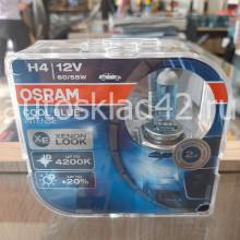Автолампа OSRAM H4 12V 60/55W P43t COOL BLUE (2шт.)