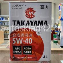 Масло моторное TAKAYAMA SN/CF A3/B4 5W-40 4л