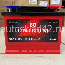 Аккумулятор UNIKUM 60Ah 12V 500A о/п Ca/Ca