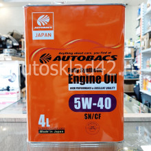 Масло моторное AUTOBACS Engine Oil 5W-40 SN/CF 4л