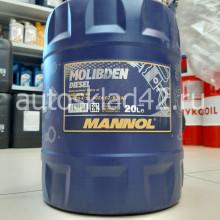 Масло моторное MANNOL Molibden Diesel 10W-40 API CG-4/SL 20л