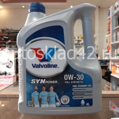 Масло моторное VALVOLINE SYNPOWER FE 0W-30 4л