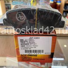 Тормозные колодки задние JUST DRIVE JBP-0363