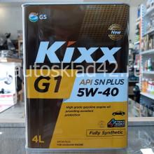 Масло моторное KIXX G1 5W-40 SN PLUS 4л